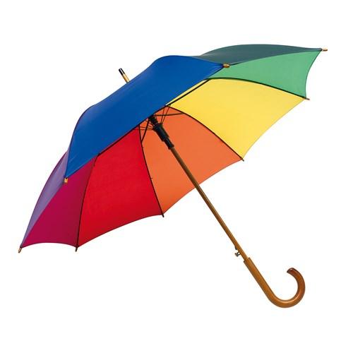 Logoparaply i alle regnbuens farver
